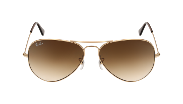 Aviator large métal Brun dégradé