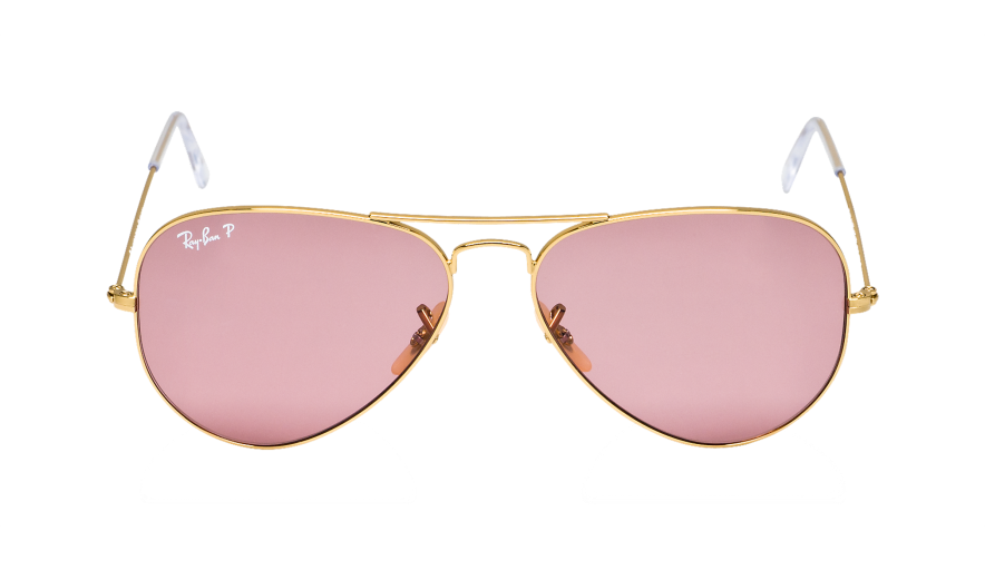 ray ban aviator rose gold vba
