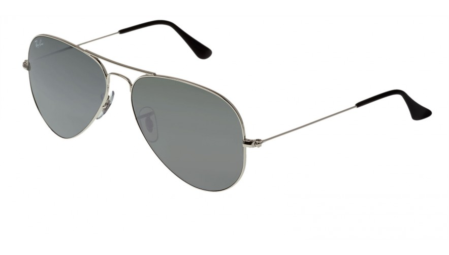 Lunettes de soleil ray ban aviator large m tal rb3025 gris for Ray ban aviator verre miroir