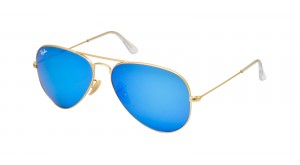 AVIATOR LARGE METAL RB 3025 112/17 BLEU MIROIR