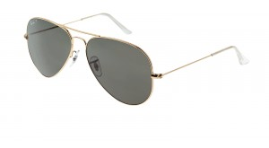 AVIATOR LARGE METAL RB 3025 001/58 DOREE POLARISE