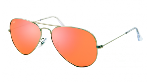 AVIATOR LARGE MÉTAL RB 3025 019/Z2  GRIS/ROSE