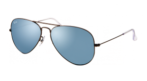 AVIATOR LARGE MÉTAL RB 3025 029/30 GRIS MAT